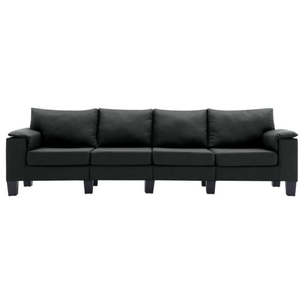 4-Sitzer-Sofa Schwarz Stoff