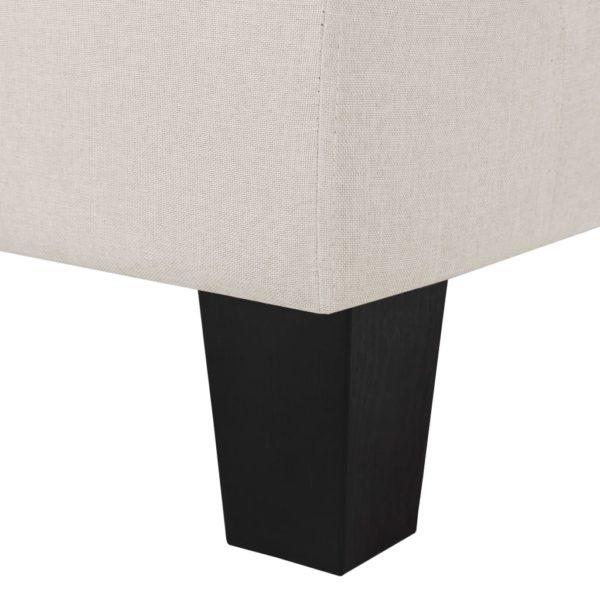 3-Sitzer-Sofa Creme Stoff