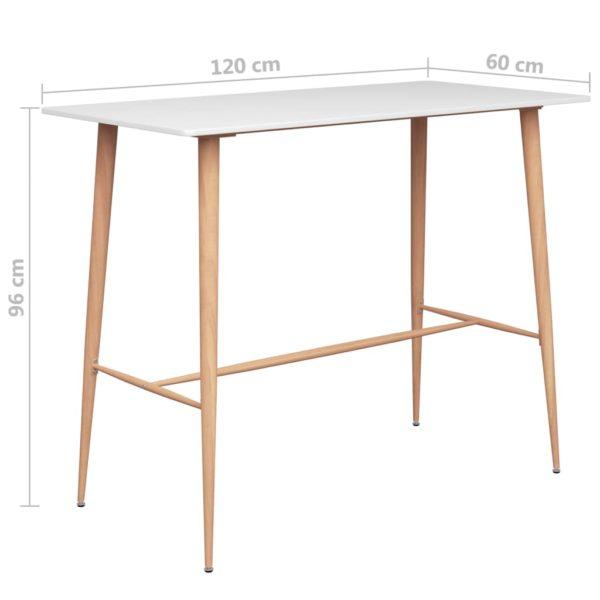 Bartisch Weiß 120×60×96 cm