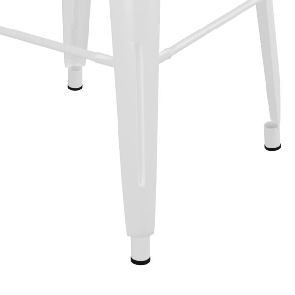 Barhocker Stapelbar 2 Stk. Weiß Metall