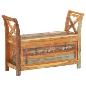 Flurbank 103×33×72 cm Recyceltes Massivholz