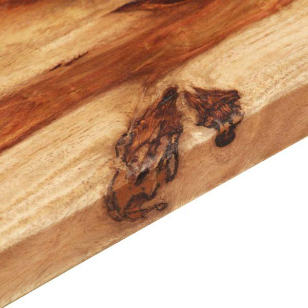 Tischplatte Massivholz Palisander 25-27 mm 70×90 cm