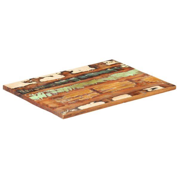 Tischplatte Rechteckig 60×90 cm 25-27 mm Recyceltes Massivholz