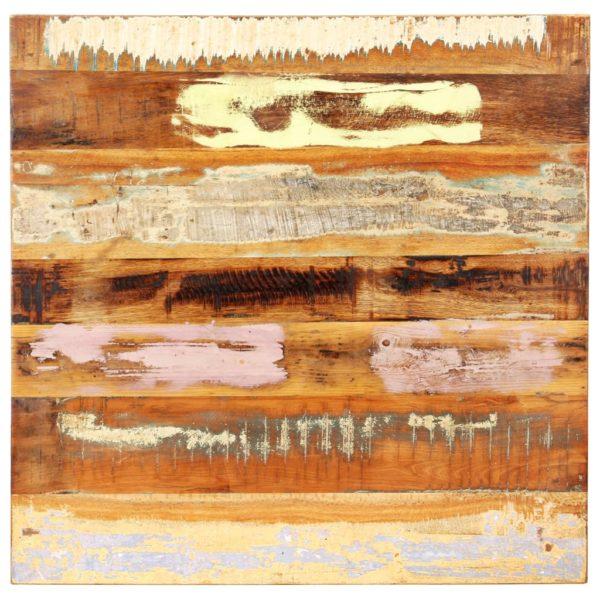 Tischplatte Quadratisch 70×70 cm 25-27 mm Recyceltes Massivholz