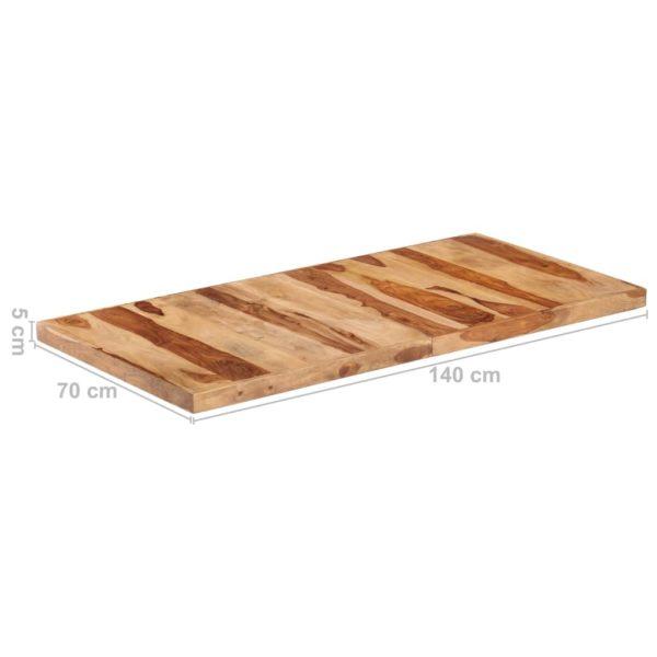 Tischplatte Massivholz Palisander 16 mm 140 x 70 cm
