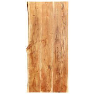 Badezimmer-Waschtischplatte Massivholz Akazie 120 x 55 x 3,8 cm