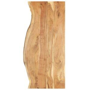 Badezimmer-Waschtischplatte Massivholz Akazie 140 x 55 x 2,5 cm
