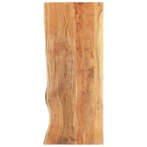 Badezimmer-Waschtischplatte Massivholz Akazie 140 x 55 x 3,8 cm