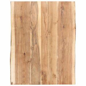 Tischplatte Massivholz Akazie 80 x 60 x 3,8 cm