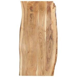 Tischplatte Massivholz Akazie 120 x 60 x 2,5 cm