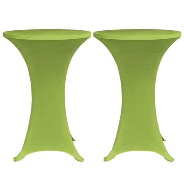 Stretch-Tischhussen 4 Stk. 70 cm Grün