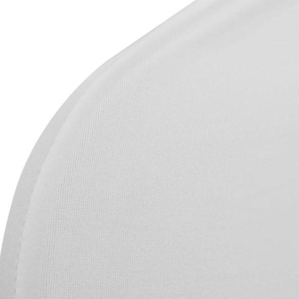 Stretch-Stuhlhussen 12 Stk. Weiß