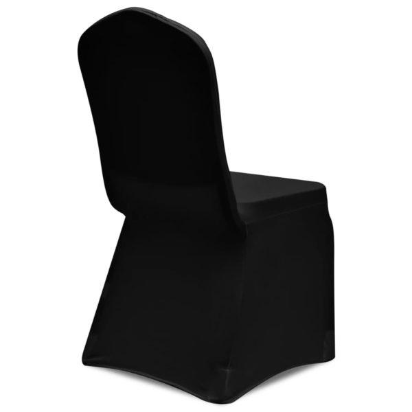 Stretch-Stuhlhussen 12 Stk. Schwarz