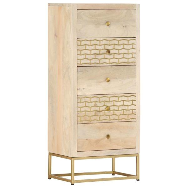 Schubladenschrank Golden 45x30x105 cm Mango Massivholz