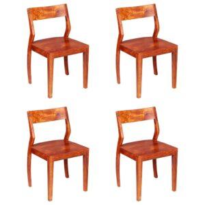 Esszimmerstühle 4 Stk. Akazienholz Massivholz