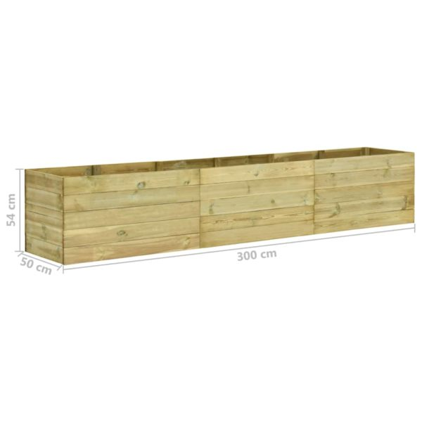 Garten-Hochbeet 300×50×54 cm Kiefernholz Imprägniert