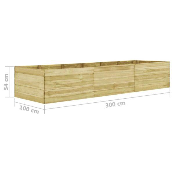 Garten-Hochbeet 300×100×54 cm Kiefernholz Imprägniert