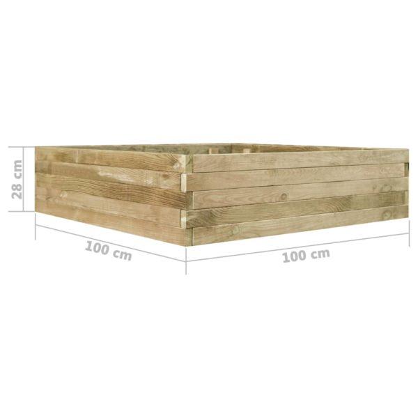 Garten-Hochbeet Kiefernholz Imprägniert 100 cm