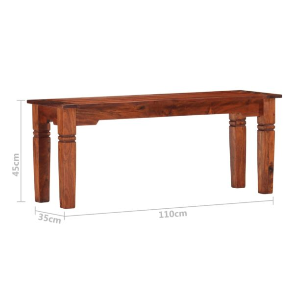 Bank 110 cm Massivholz Akazie