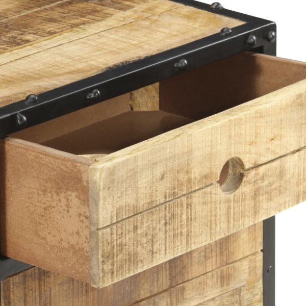 Nachttisch 40 x 30 x 50 cm Raues Mangoholz