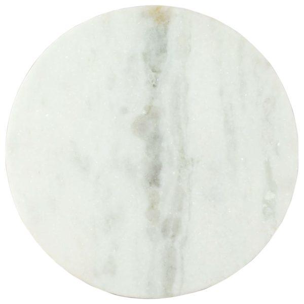 Couchtisch Weiß und Schwarz Ø50 cm Echter Marmor