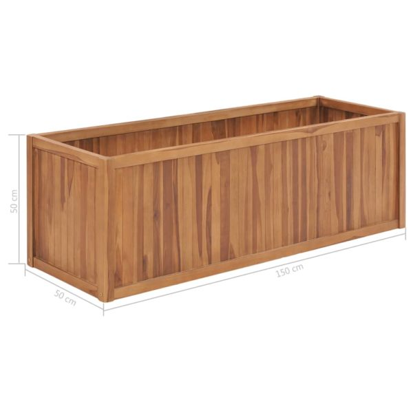 Garten-Hochbeet 150 x 50 x 50 cm Massivholz Teak
