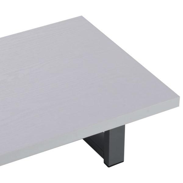 3-tlg. Badmöbel-Set Keramik Weiß
