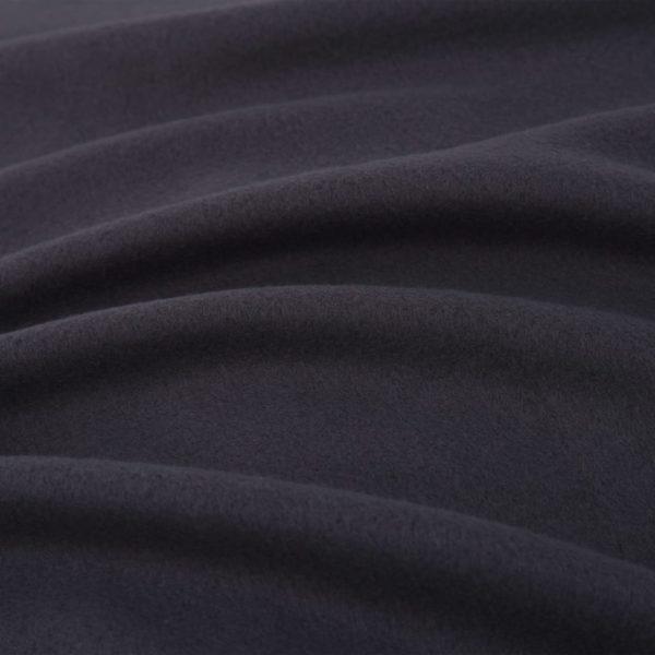 5-tlg. Bettwäsche-Set Fleece Anthrazit 200×200/60×70 cm