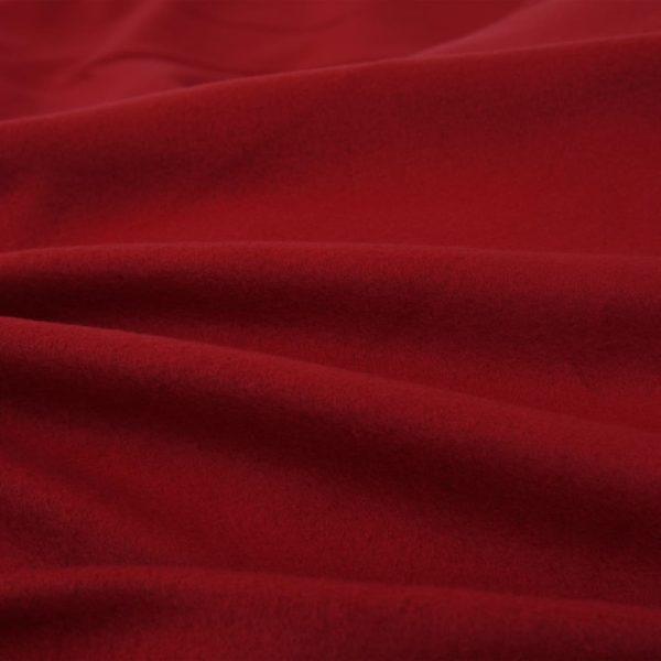 5-tlg. Bettwäsche-Set Fleece Weinrot 200×200/80×80 cm