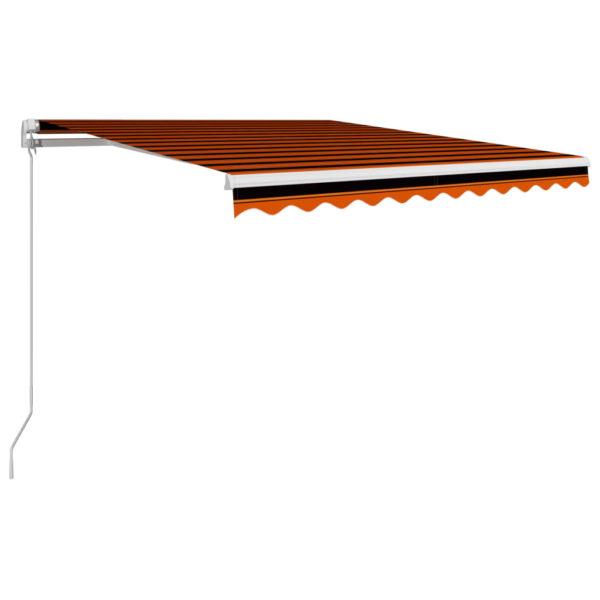 Einziehbare Markise Handbetrieben 350 x 250 cm Orange und Braun