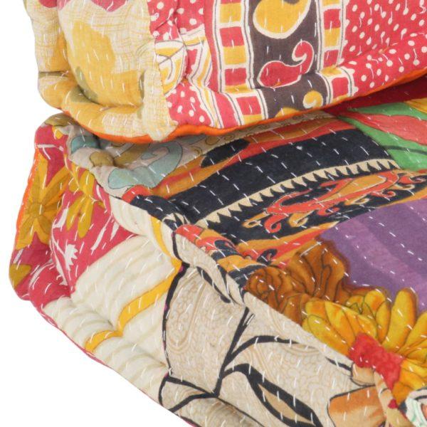 Palettensofa-Auflage Mehrfarbig Stoff Patchwork