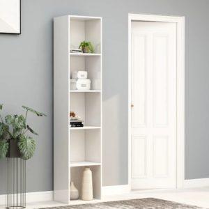 Bücherregal Hochglanz-Weiß 40x30x189 cm Spanplatte