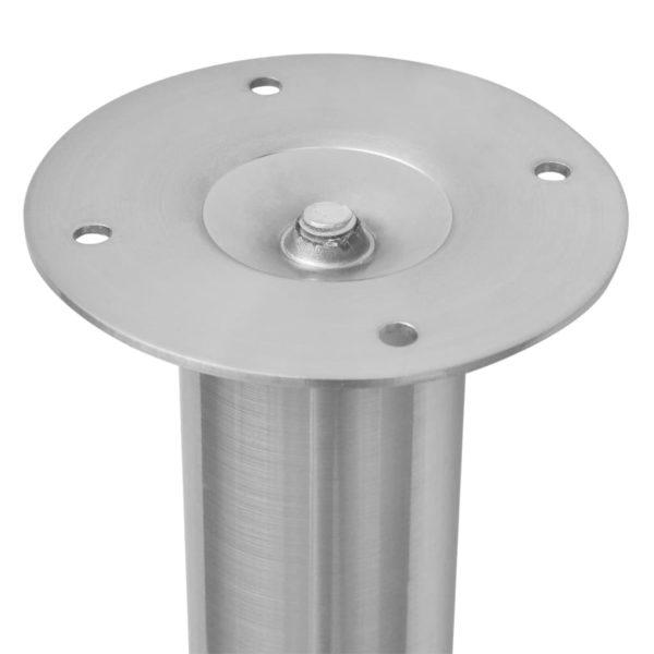 Teleskopische Tischbeine 4 Stk. Gebürstetes Nickel 710-1100 mm