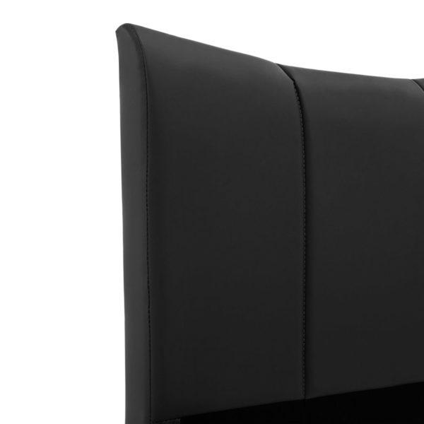 Bettgestell Schwarz Kunstleder 140 x 200 cm