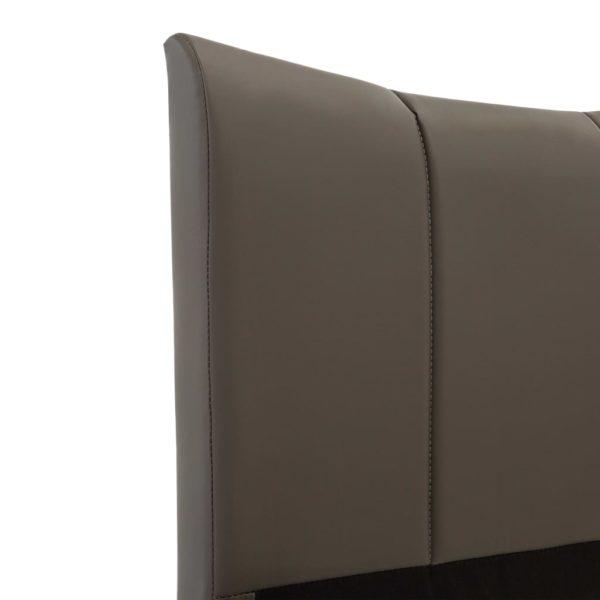 Bettgestell Anthrazit Kunstleder 160 x 200 cm