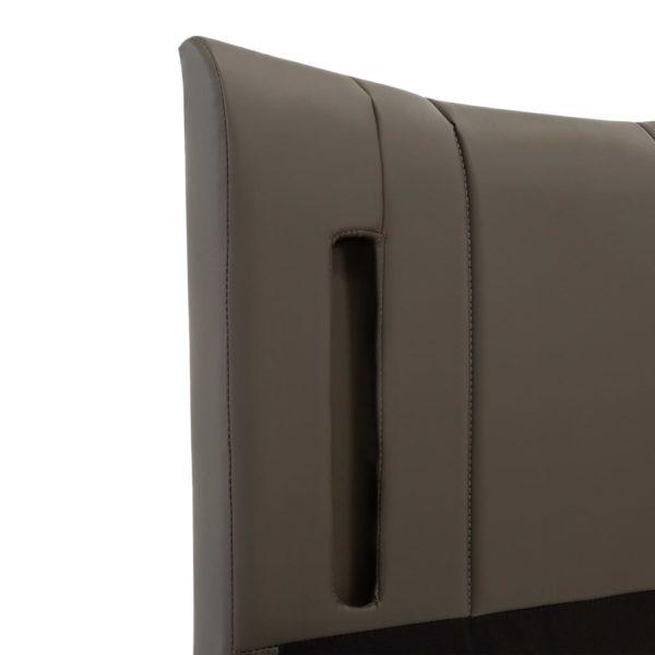 Bettgestell mit LED Anthrazit Kunstleder 180 x 200 cm