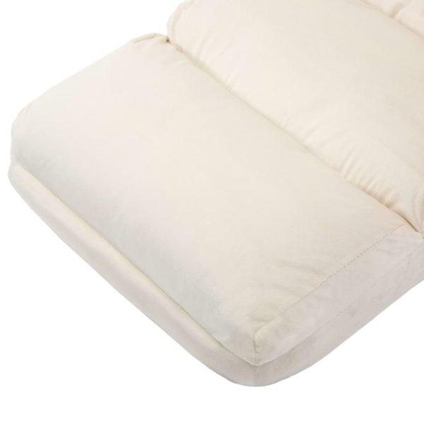 Boden-Schlafsessel mit Armlehnen Cremeweiß Stoff