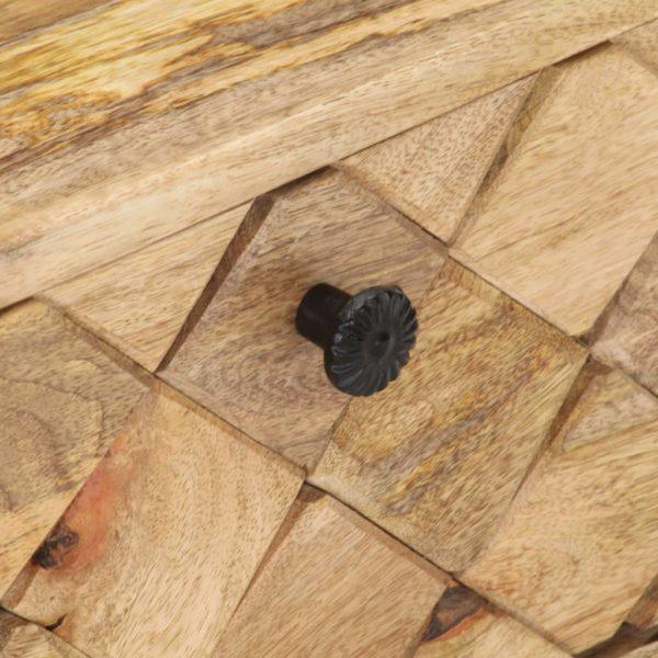 Couchtisch 68 x 68 x 38 cm Massivholz Mango
