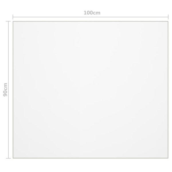 Tischfolie Transparent 100×90 cm 2 mm PVC