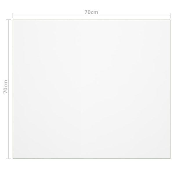 Tischfolie Transparent 70×70 cm 2 mm PVC