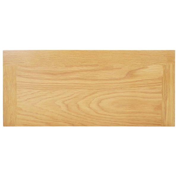 Medienschrank 50x22x122 cm Massivholz Eiche