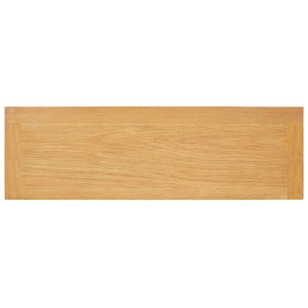 Bücherregal 3 Fächer 72 x 22,5 x 82 cm Massivholz Eiche