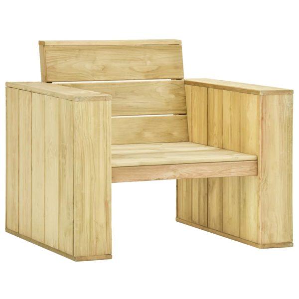 3-tlg. Garten-Lounge-Set Kiefernholz Imprägniert