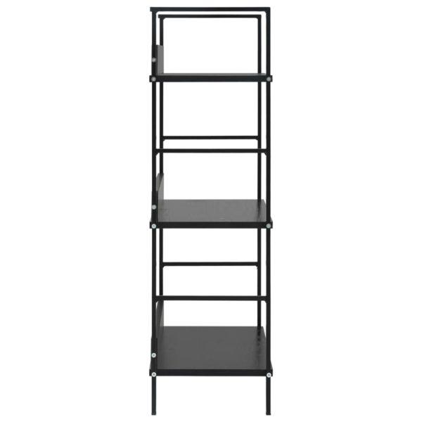 Bücherregal mit 3 Regalböden Schwarz 60×27,6×90,5 cm Spanplatte