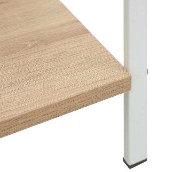 Bücherregal 3 Regalböden Eiche-Optik 60×27,6×90,5 cm Spanplatte