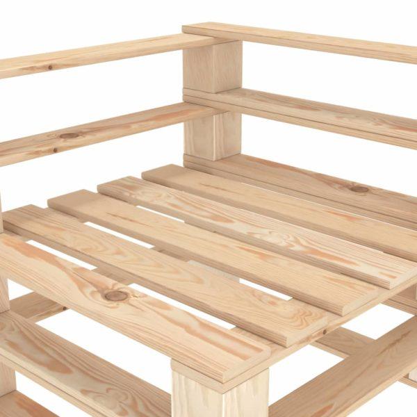 Garten-Palettensofa 3-Sitzer Holz