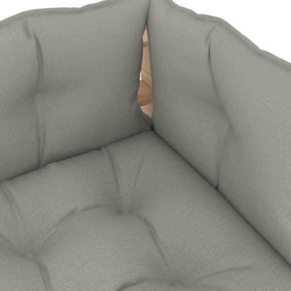Garten-Palettensofa 3-Sitzer mit Taupe-Kissen Holz