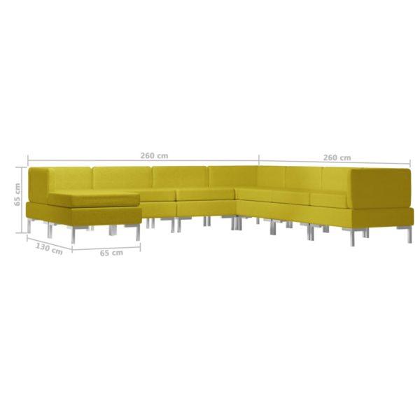8-tlg. Sofagarnitur Stoff Gelb