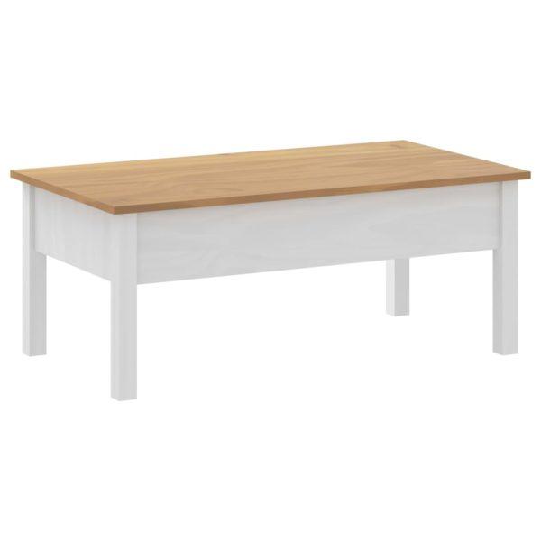 Couchtisch Hill Range Weiß 100x55x40cm Kiefer Massivholz