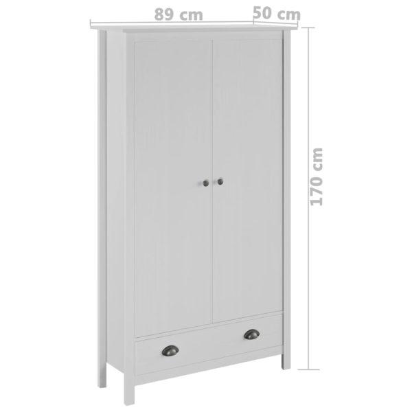 Kleiderschrank mit 2 Türen Hill Range Weiß 89x50x170 cm Kiefer